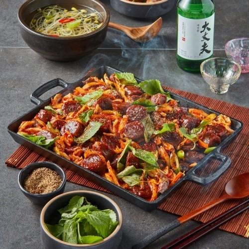 뉴 매콤 깻잎 순대볶음 (2인분)